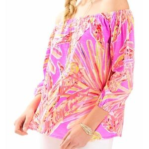 Lilly Pulitzer Enna Off Shoulder Knit Top